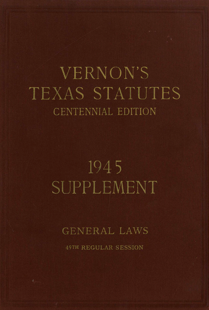 Historical Texas Statutes